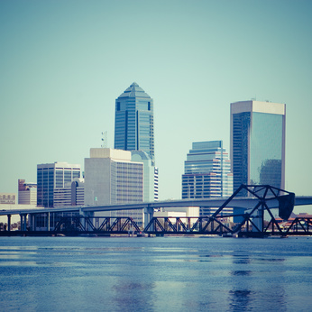 For company information, picture of downtown Jacksonville Florida which office is located